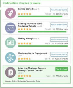 The Wealthy Affiliate Training courses